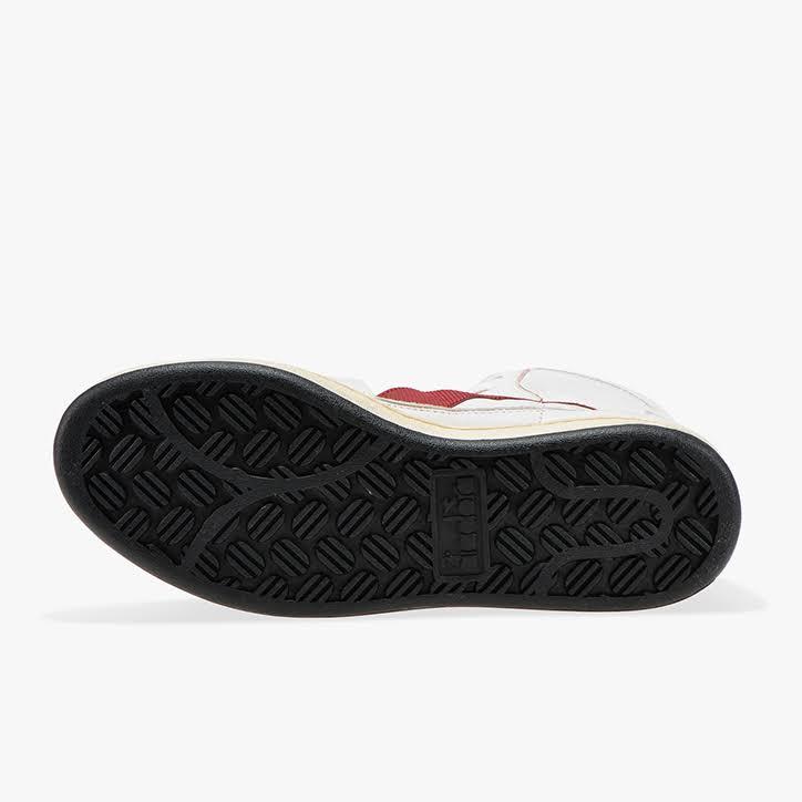 Sneaker Used Mi rot Weiß Herren Diadora Heritage Weiss Basket RqXx7wzA