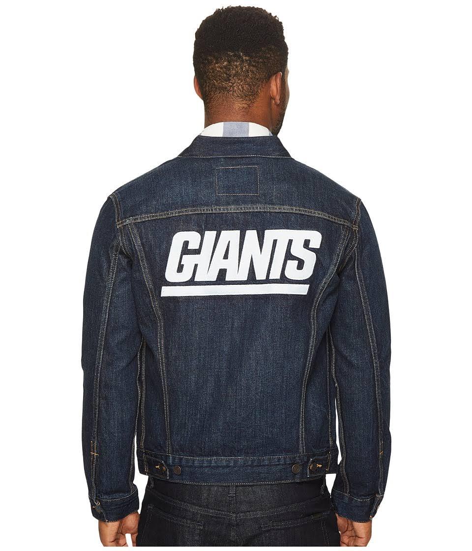 Men Denim Nfl Trucker Levi Blue York Med 108 Jacket Sz Giants PqFTwngIx0