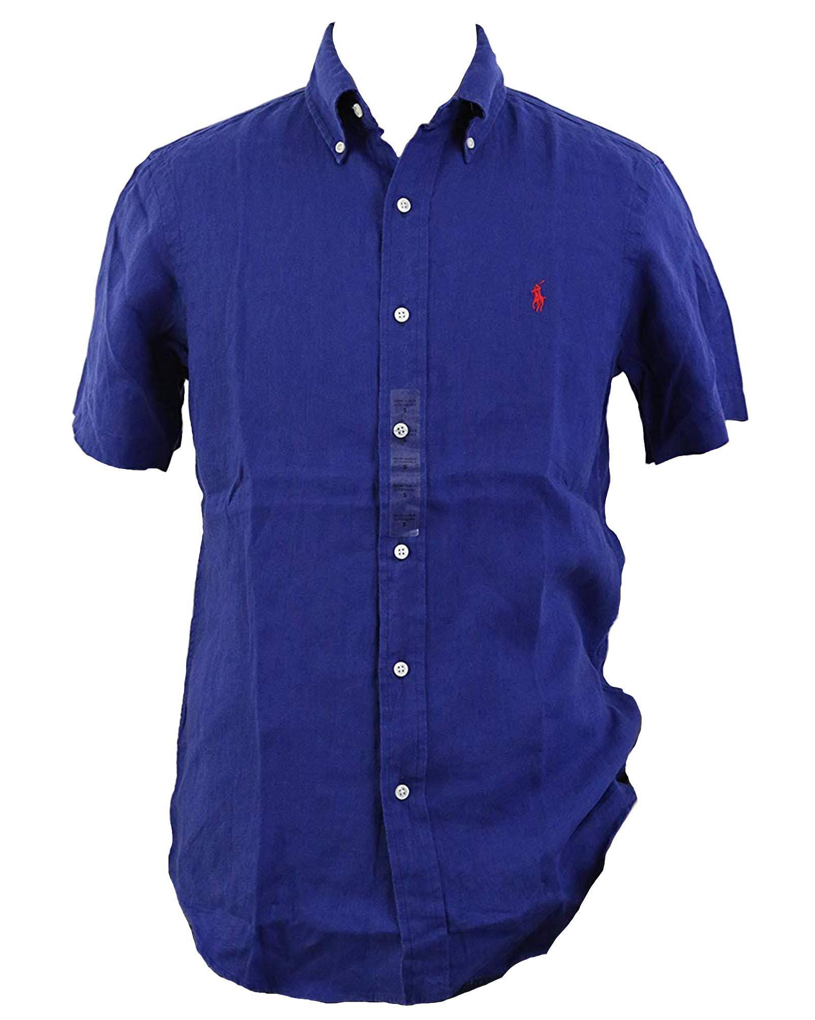 Leinen Polo Herren Shirt Lauren Button Ralph Down WwwqtnU0