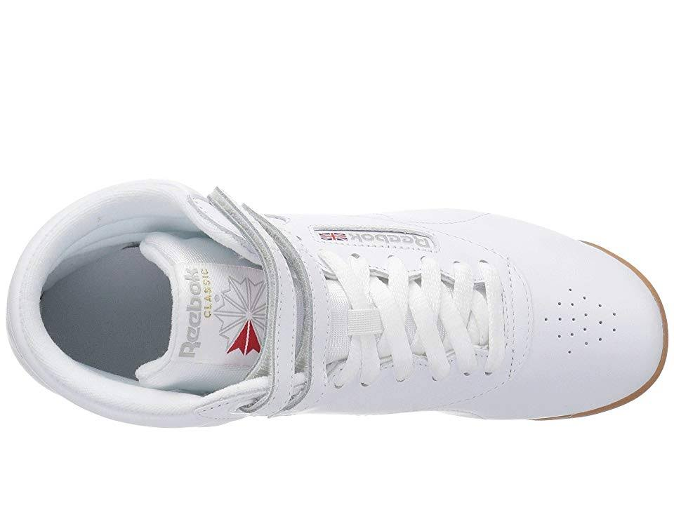 Mujer Zapatos Blanco De Hi Freestyle Reebok 5 Goma Tamaño 5 Cn2392 BwEq6xIO