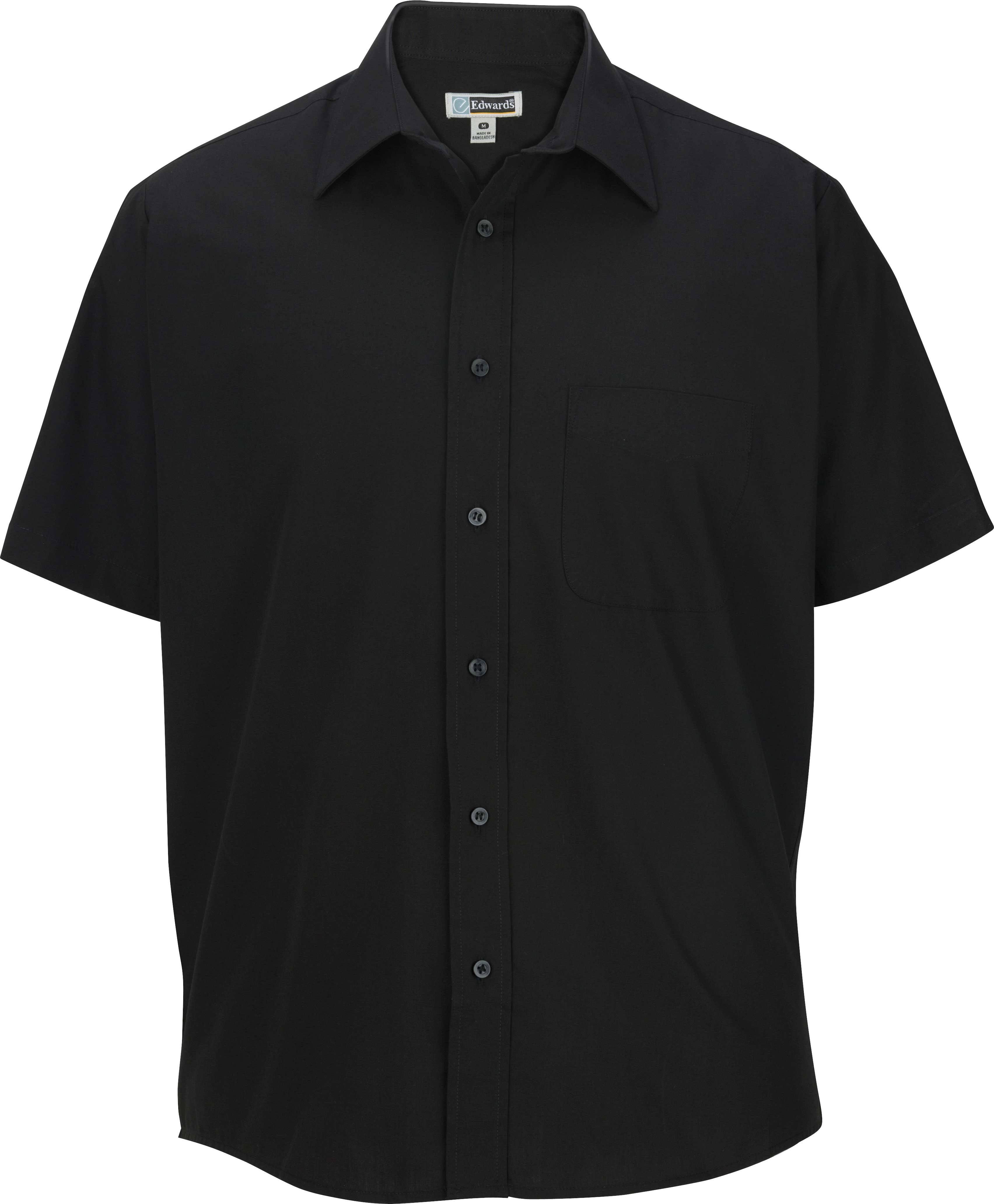 Corta Y De Edwards Hombre Para Negro Camisa Valor Gran 1313 T Manga L wIqFSq
