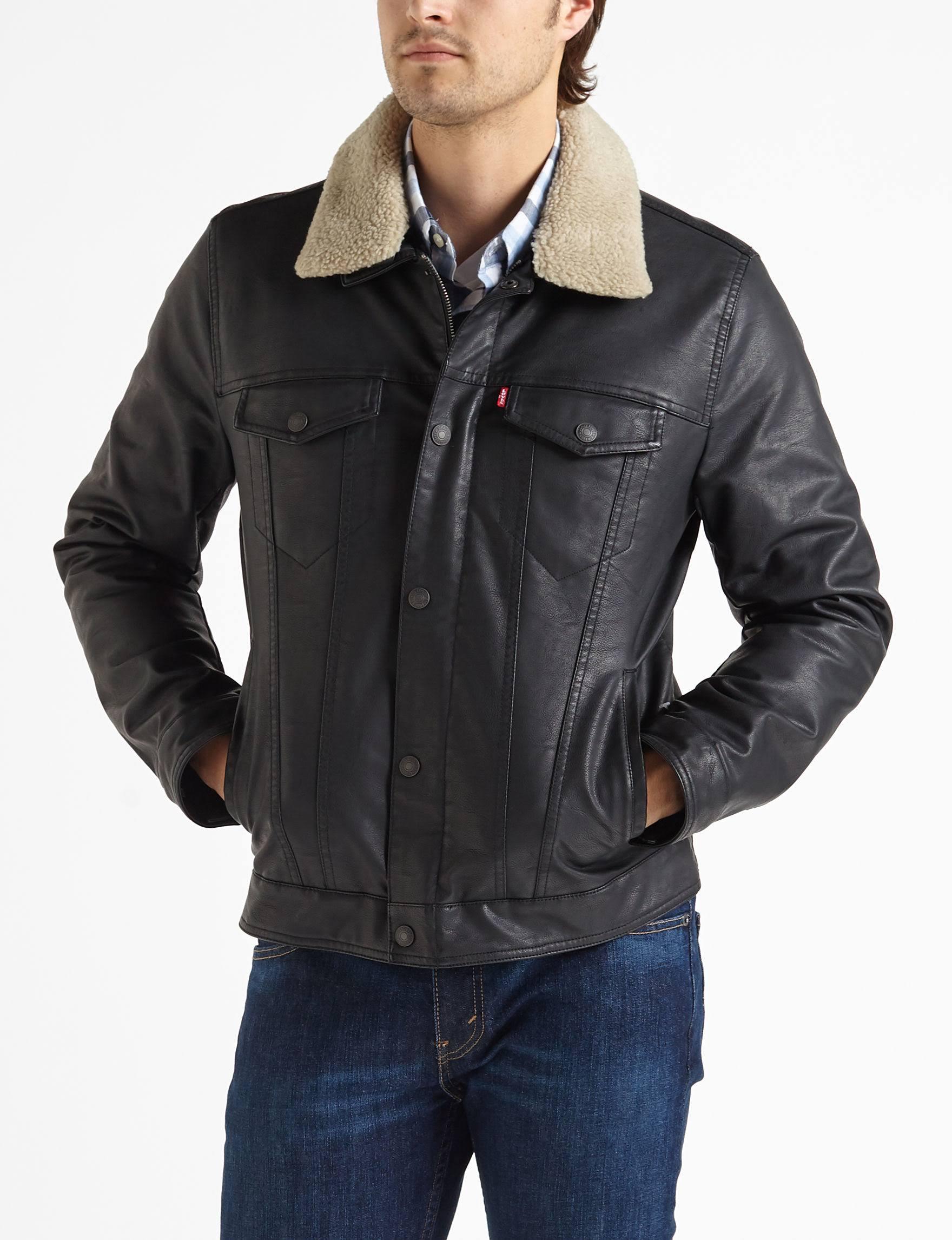 Sherpa Jacket Trucker Sml Kunstleder Aus Levi's pqZwF1f41
