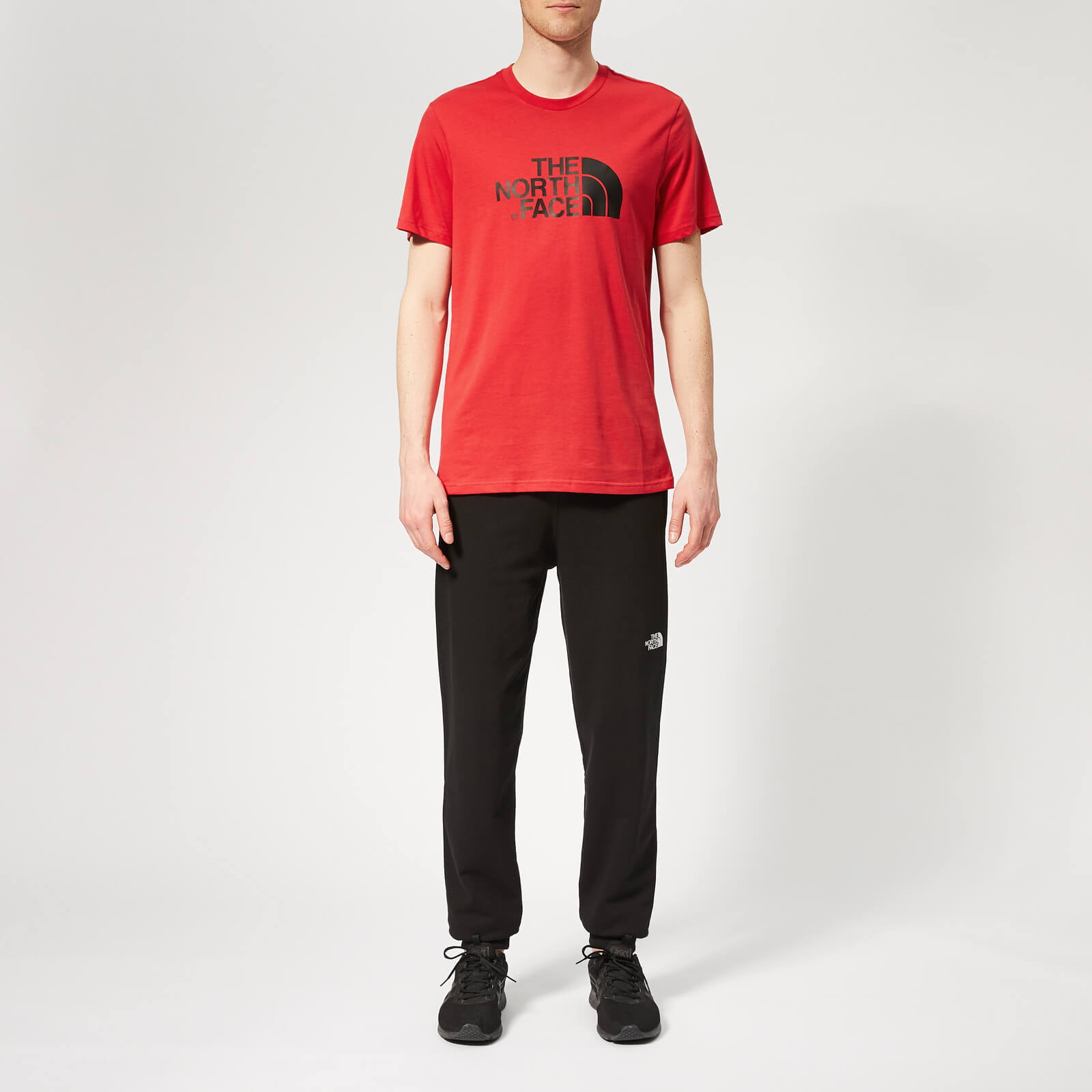 North Salsa Hombre Corta Face Manga Camiseta Fácil The Red HxwdPH