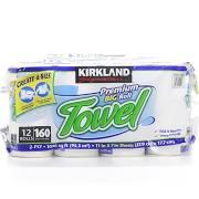 Kirkland Signature Create-A-Size Towels 12 Pack 160 Sheets