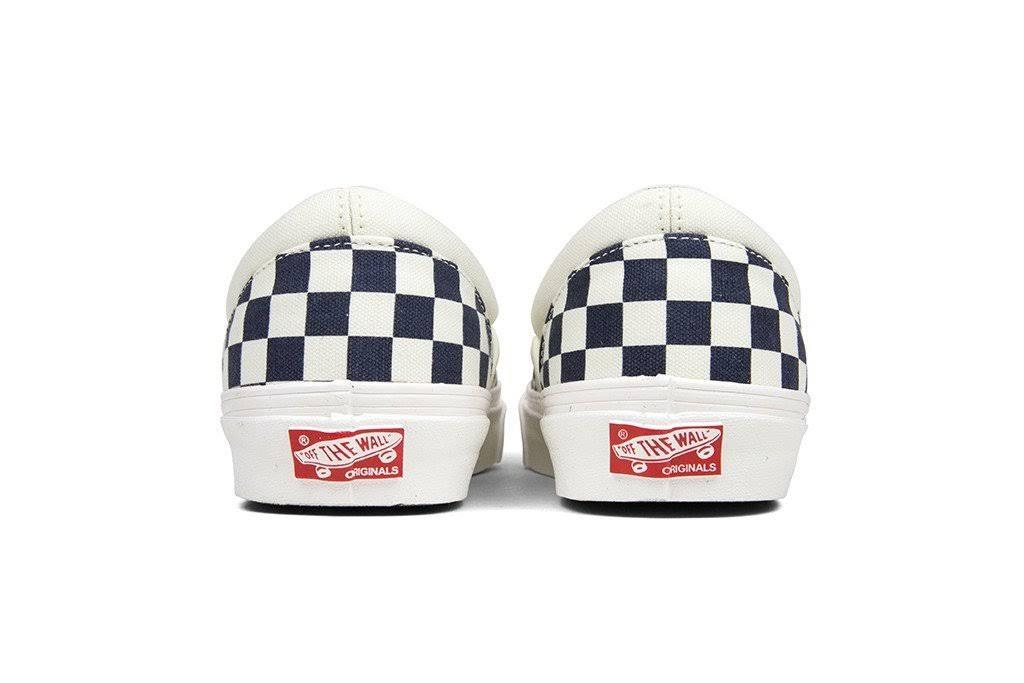 Slip Azul Vans on Og Ua Blanco Marino Lx Classic 44xqtwS