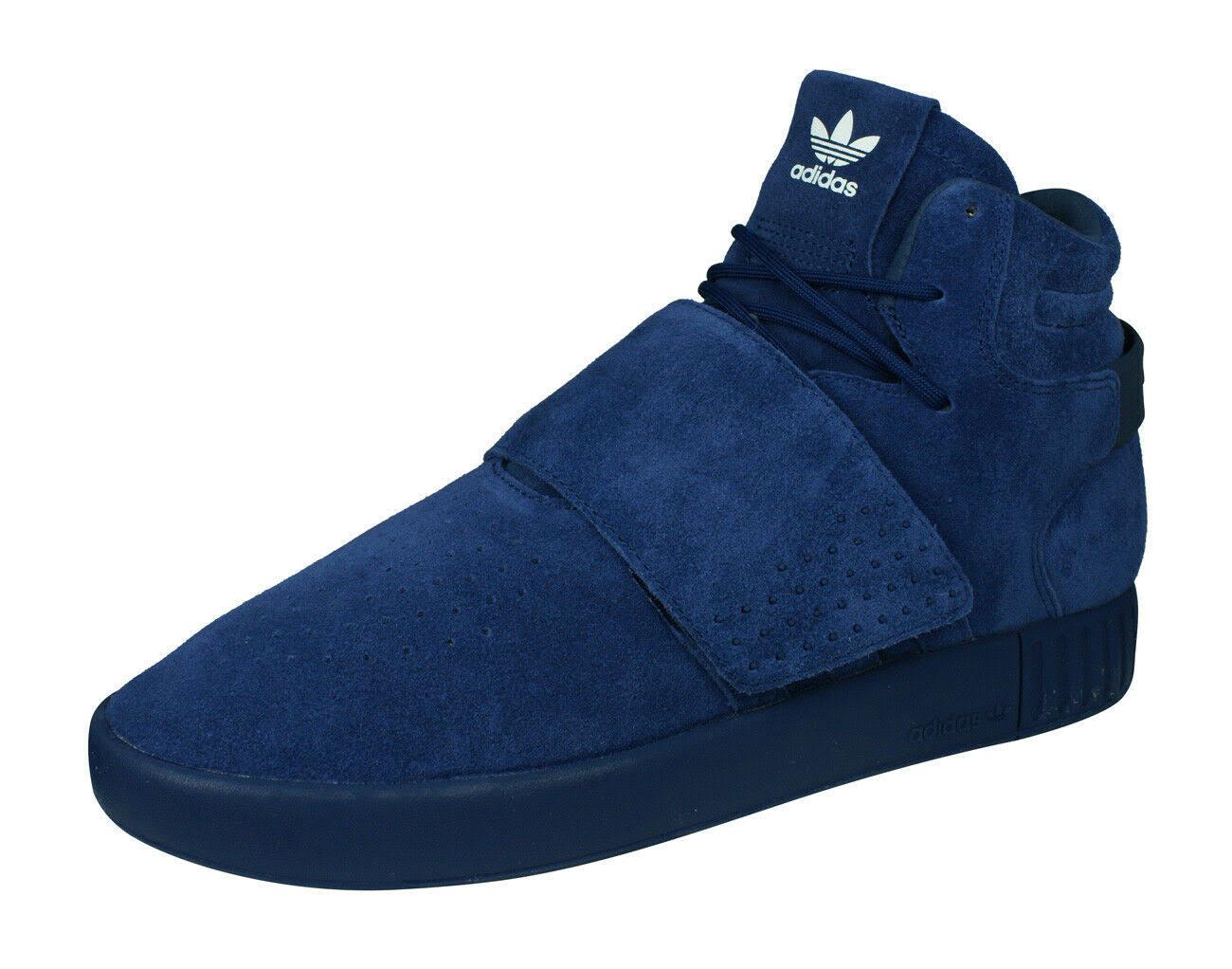 (3.5) Adidas Originals Tubular Invader Strap Mens Hi Top Trainers sneakers Shoes