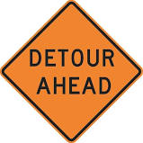 lyle w20-2d-30ha detour sign,30 x 30in,bk/orn,text
