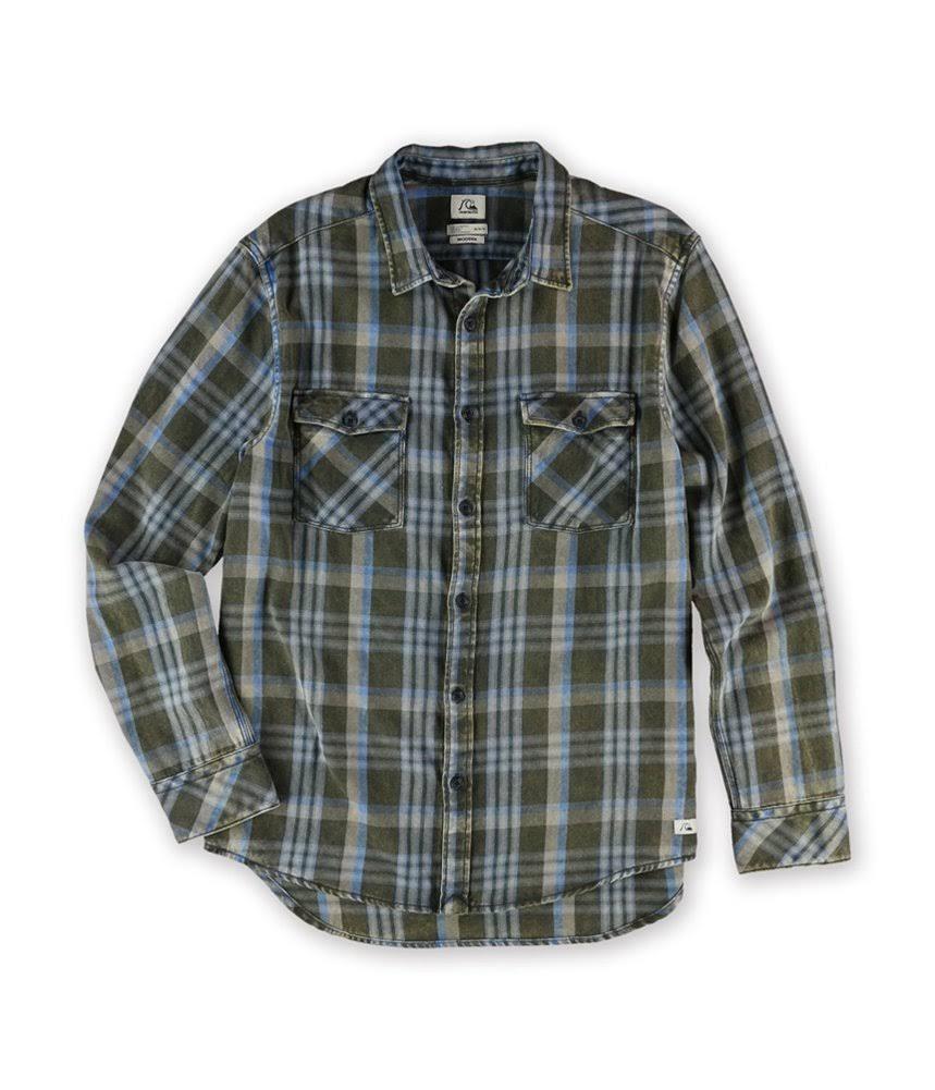 Quiksilver Kta1 Tanger Mens Up Button Camisa XCXrfwxBq