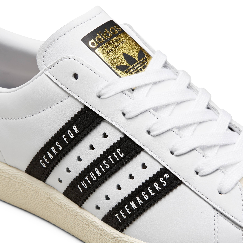 Adidas Originals Superstar 80s Human Made White Black