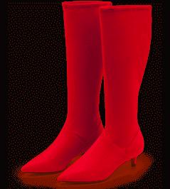 Boden Kitten Heels Stretch Boots Red Women