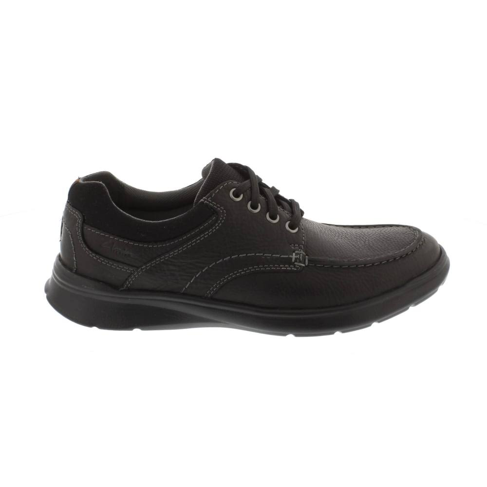 Dimensioni10 Cotrell Uk EdgeBlack Leder Glatt Leather Schwarz Clarks Oily yvfgIYb76m
