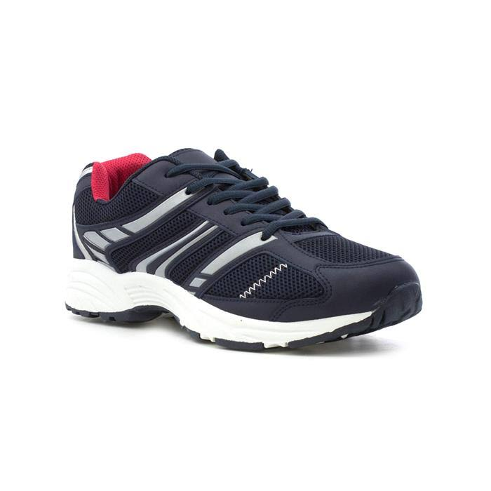 Mens Navy Lace Up Trainer - Size 9