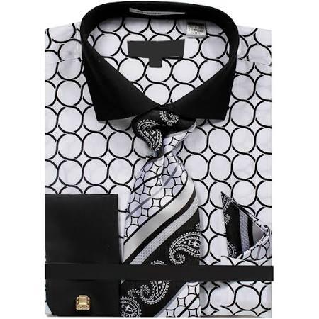 205 Corbata De Impreso Pañuelo En Sunrise Y Circular wht 36 dn68m Con Tono Outlet Hombres Ntp Los Vestir Patrón Camisa wxq6BfqU
