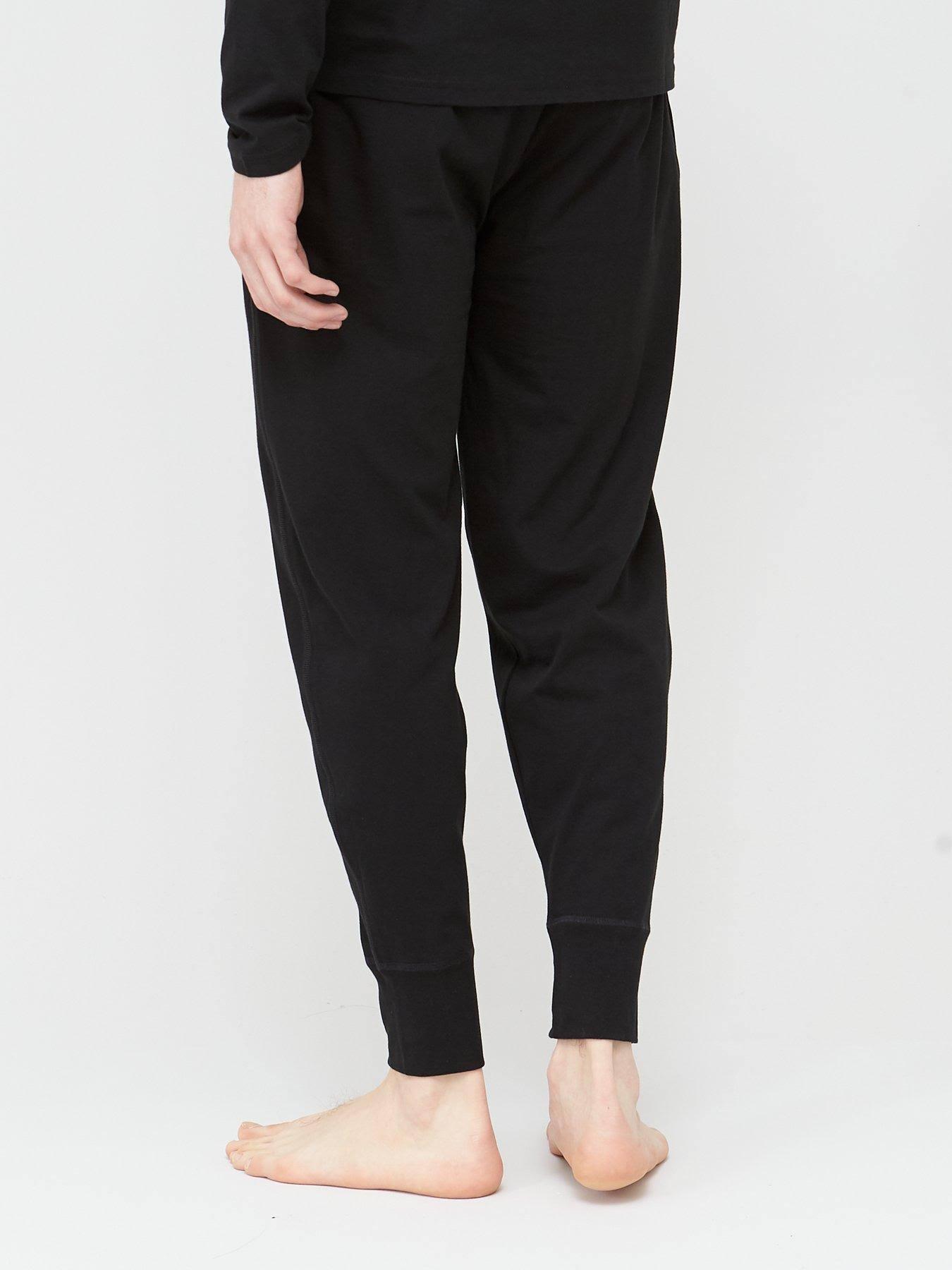 Polo Ralph Lauren Black Cotton Jersey Joggers - Size M