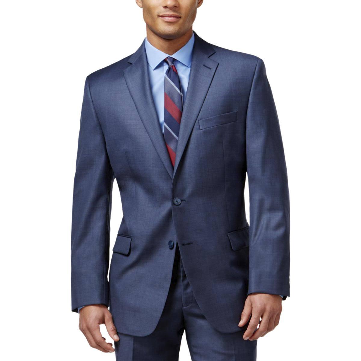 Klein De Calvin Hombre Azul Para Slim Fit Chaqueta Traje YqYd7