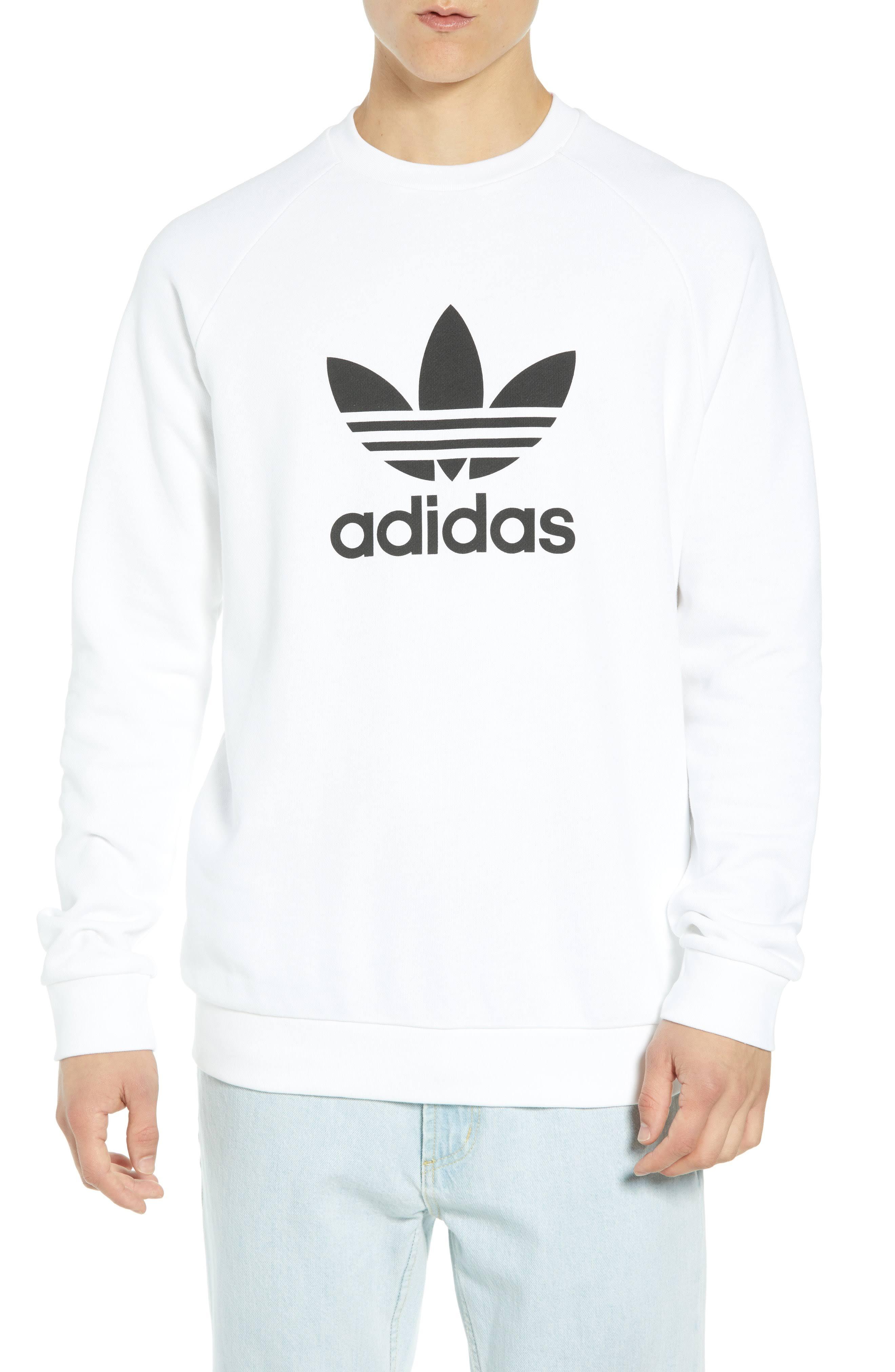 Trébol Blanco Originals Calentamiento De Sudadera Adidas qHa7Wx