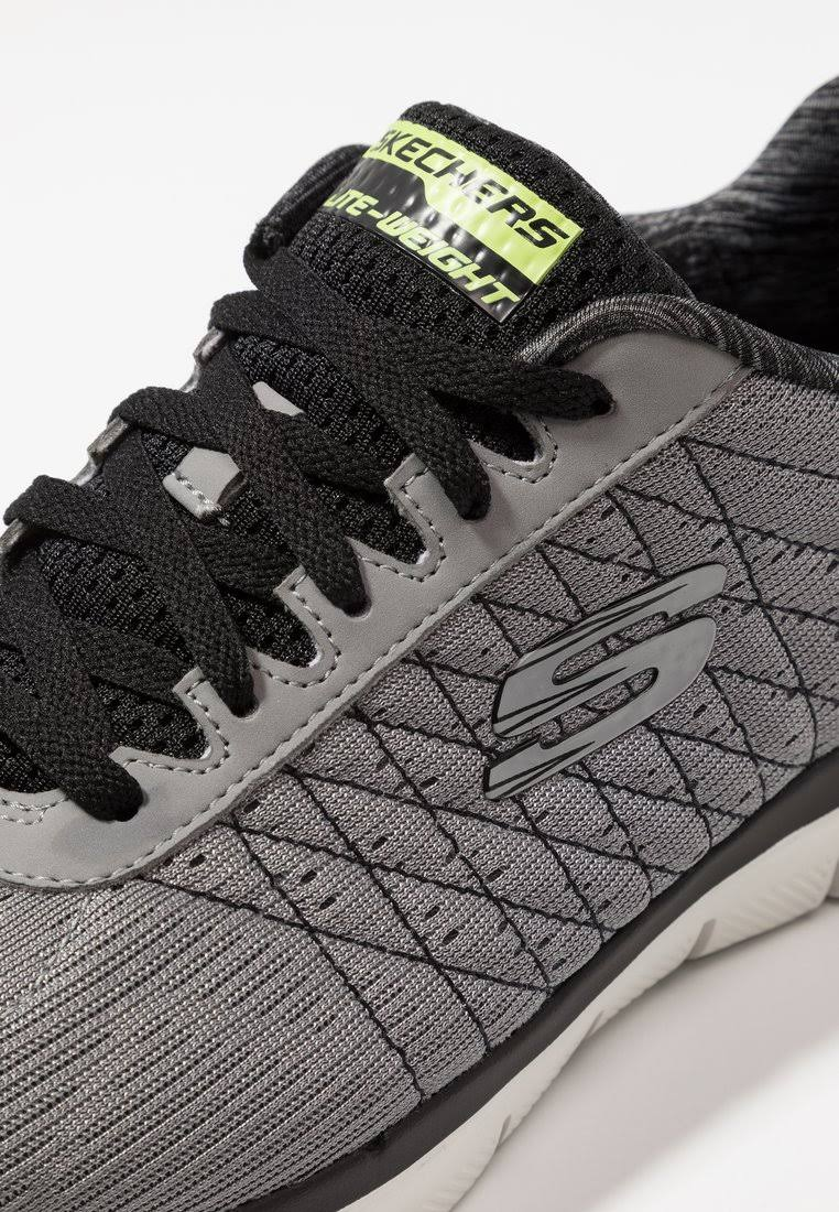 Skechers Trainers Textile 0 black Men's 7 2 Flex Size Grey Light Sport The light Happs Advantage black Grey Grey rUxn0wrqHZ