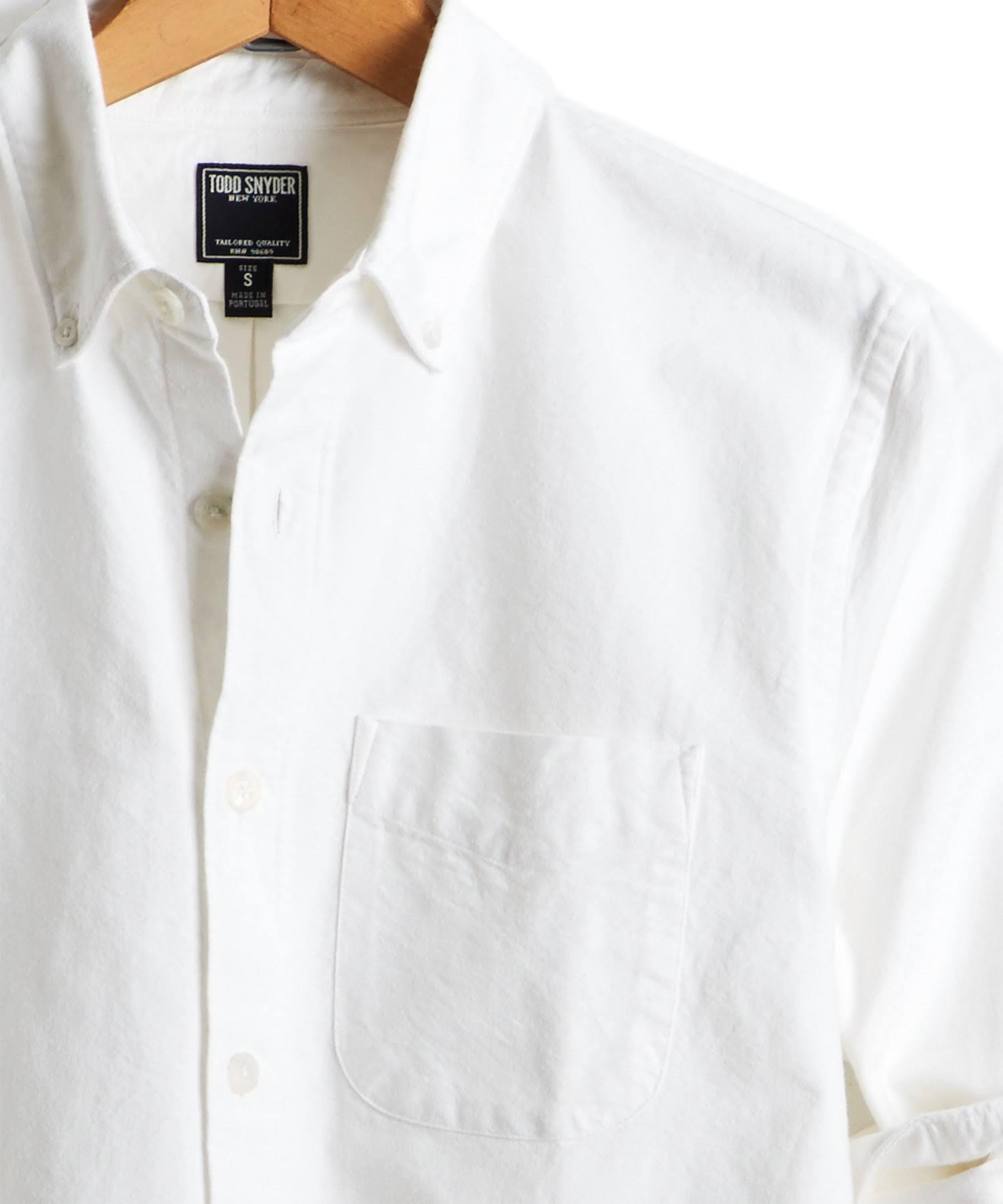 Selvedge Camisa Blanco Snyder Botones Japonesa Oxford De M Con Todd En YZPqw