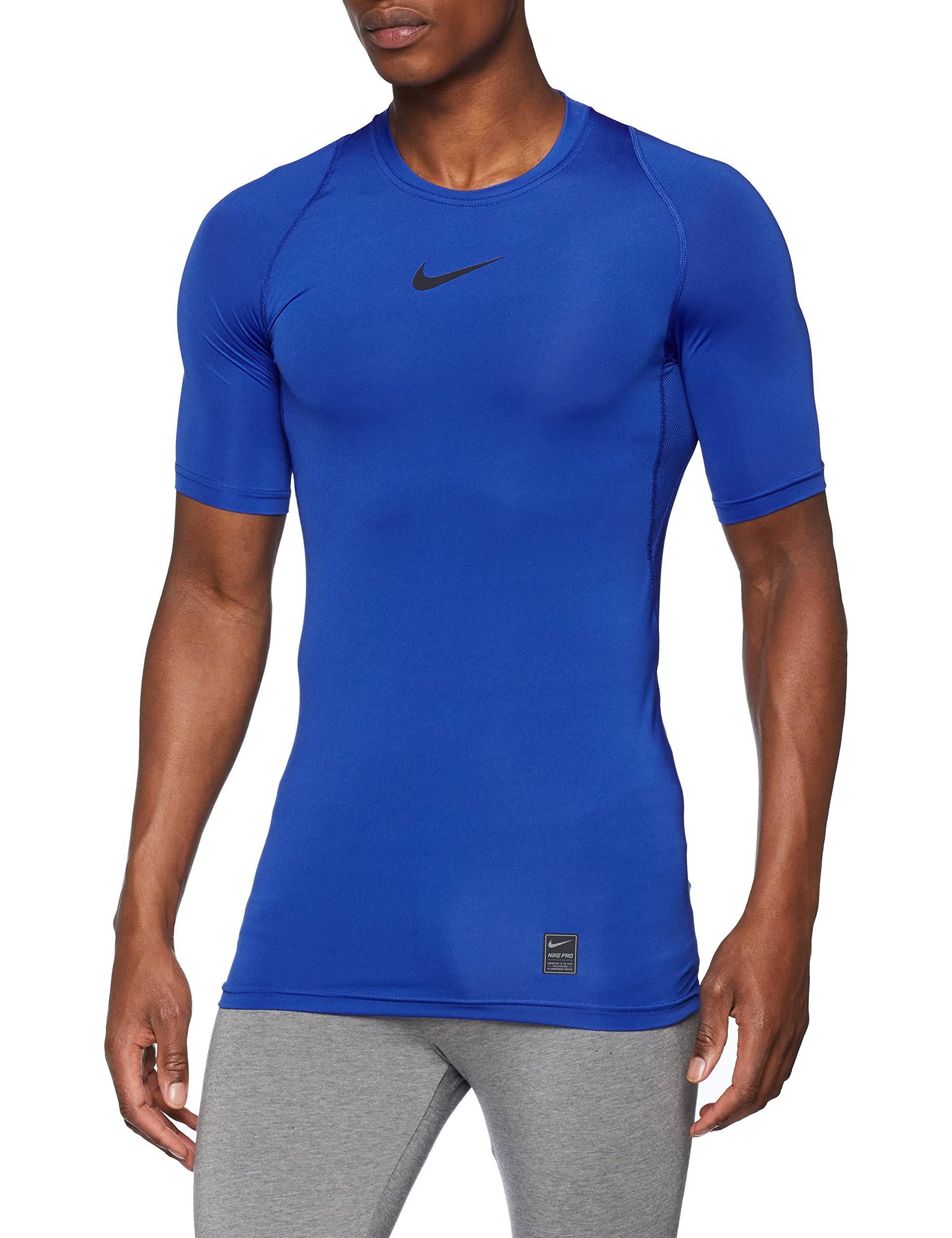 Blau Sports Herren Nike Kurzarmshirt Regular Compression Jd Pro wqxtRBZ